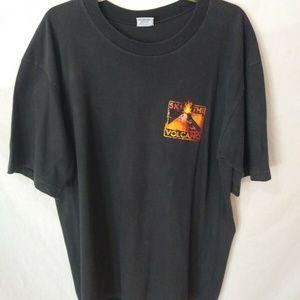 Vintage Crazy Shirt Black Ski The Volcano T-Shirt